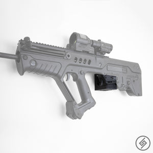 TAVOR Wall Mount, Left, Transparent, Spartan Mounts