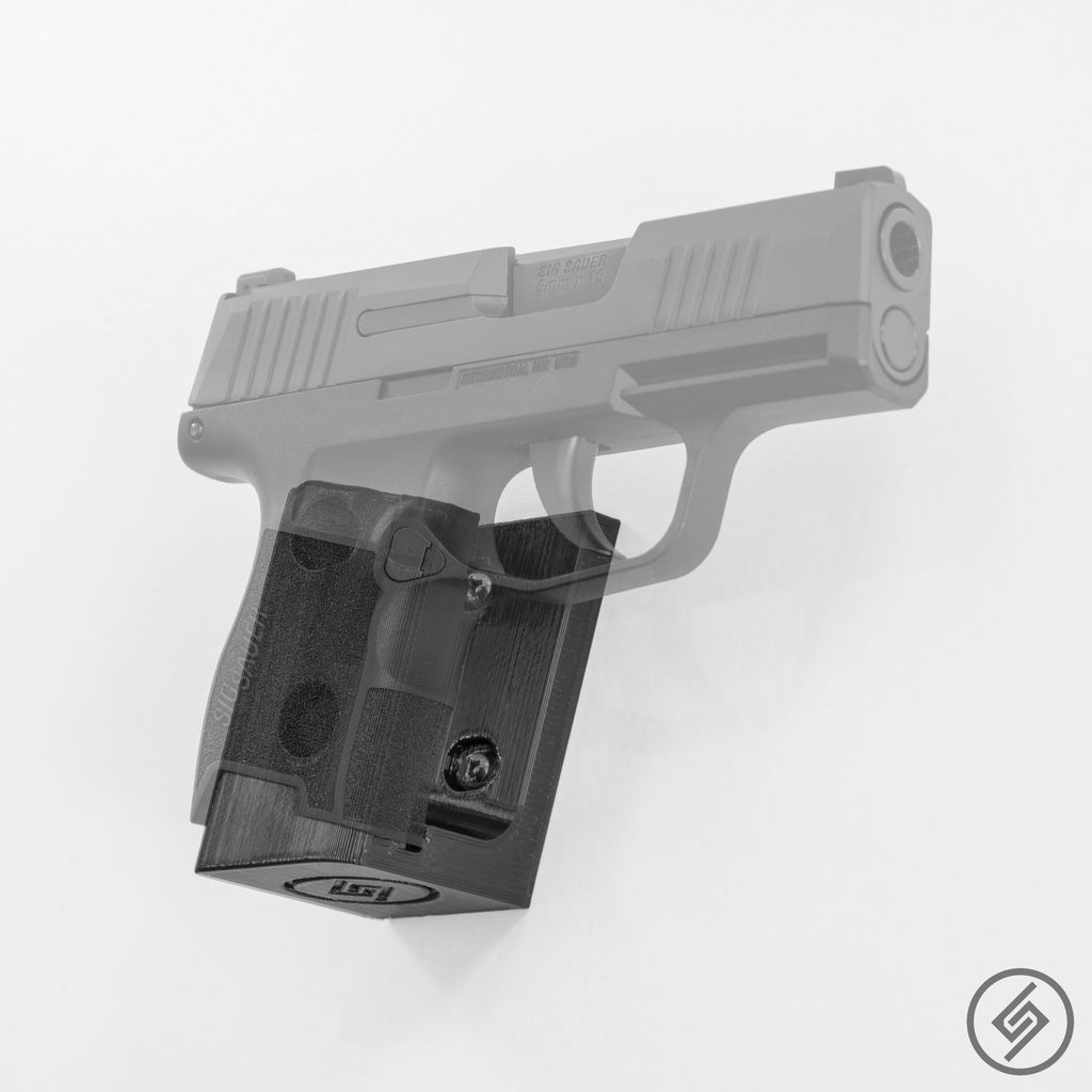SIG P365 Wall Mount, Right, Transparent, Spartan Mounts