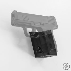 SIG P365 Wall Mount, Left, Transparent, Spartan Mounts