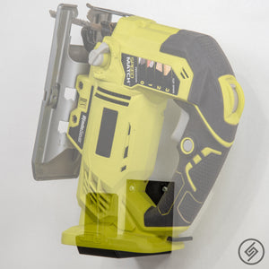 Wall Mount for all sizes of RYOBI Power Tools, Left, Transparent, Spartan Mounts