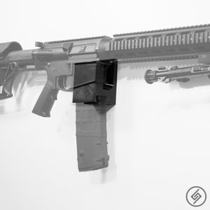 AR-10 + PMAG Wall Mount, Right, Transparent, Spartan Mounts