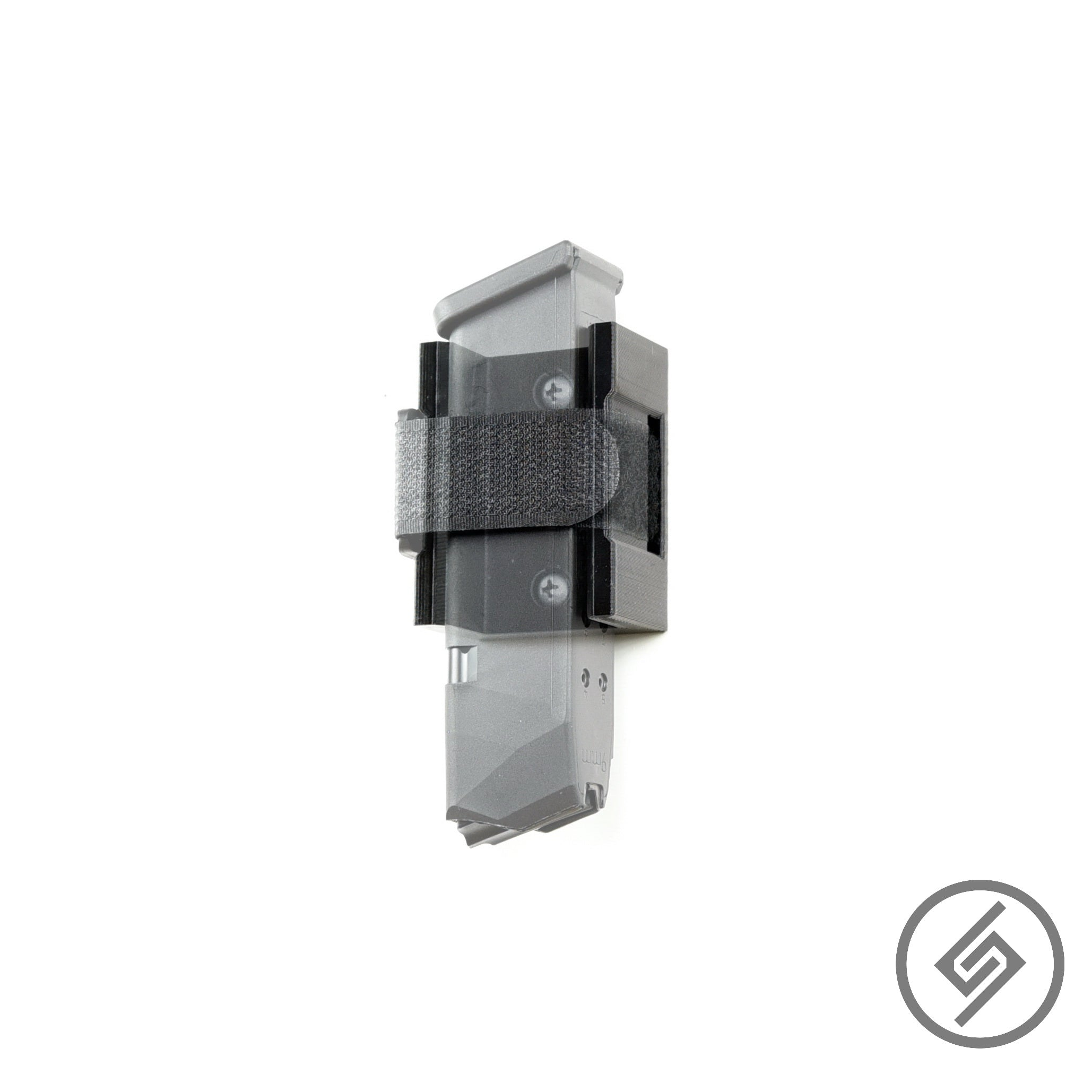 Velcro Wall Mount for Glock Magazine, Transparent, Spartan Mounts