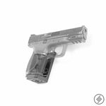 Wall Mount for M&P 9mm Pistol, Transparent, Right, Spartan Mounts