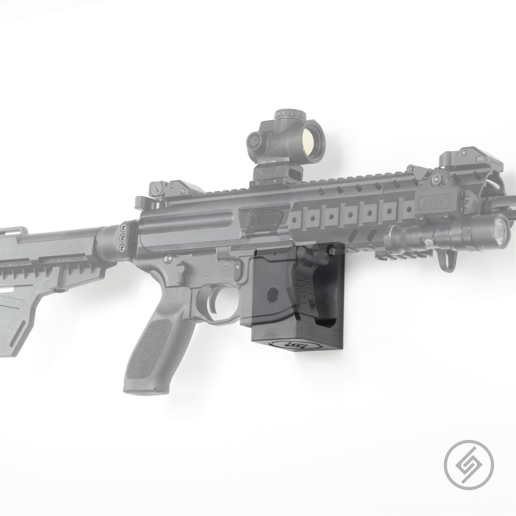 Mount Customized for the SIG MPX Pistol, SBR, and Rifle, Transparent, Right, Spartan Mounts, Rifle Display