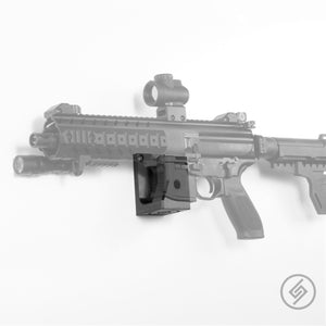 Mount Customized for the SIG MPX Pistol, SBR, and Rifle, Transparent, Left, Spartan Mounts, Rifle Display