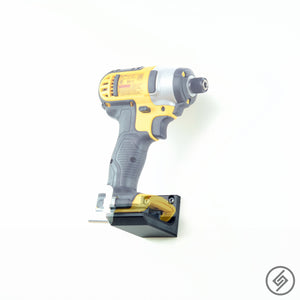 Wall Mount for DeWalt 20V Power Tools, Transparent, Right, Spartan Mounts