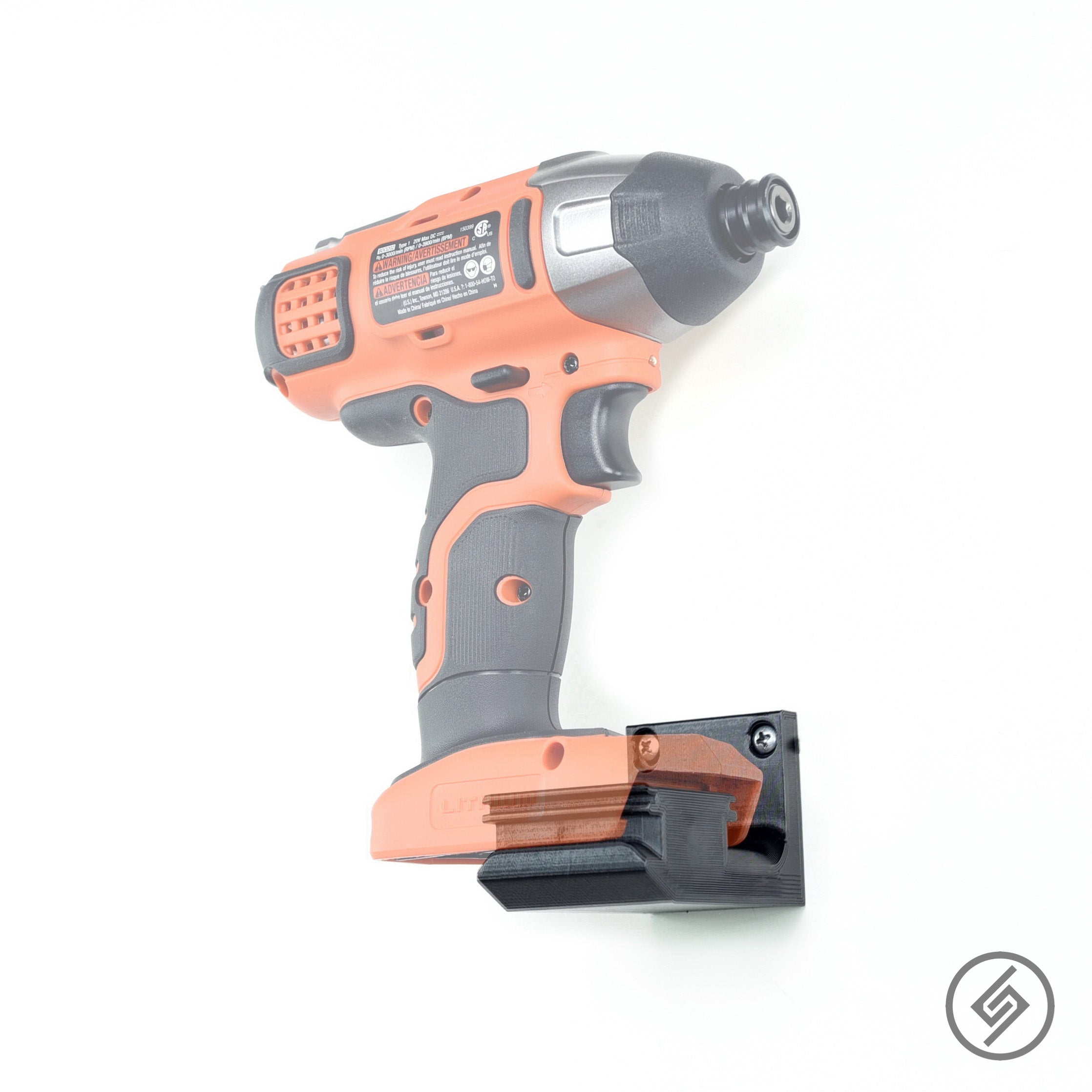 Black & Decker 20v Power Tool Wall Display Mount Holder Garage Workshop Storage Spartan Mount