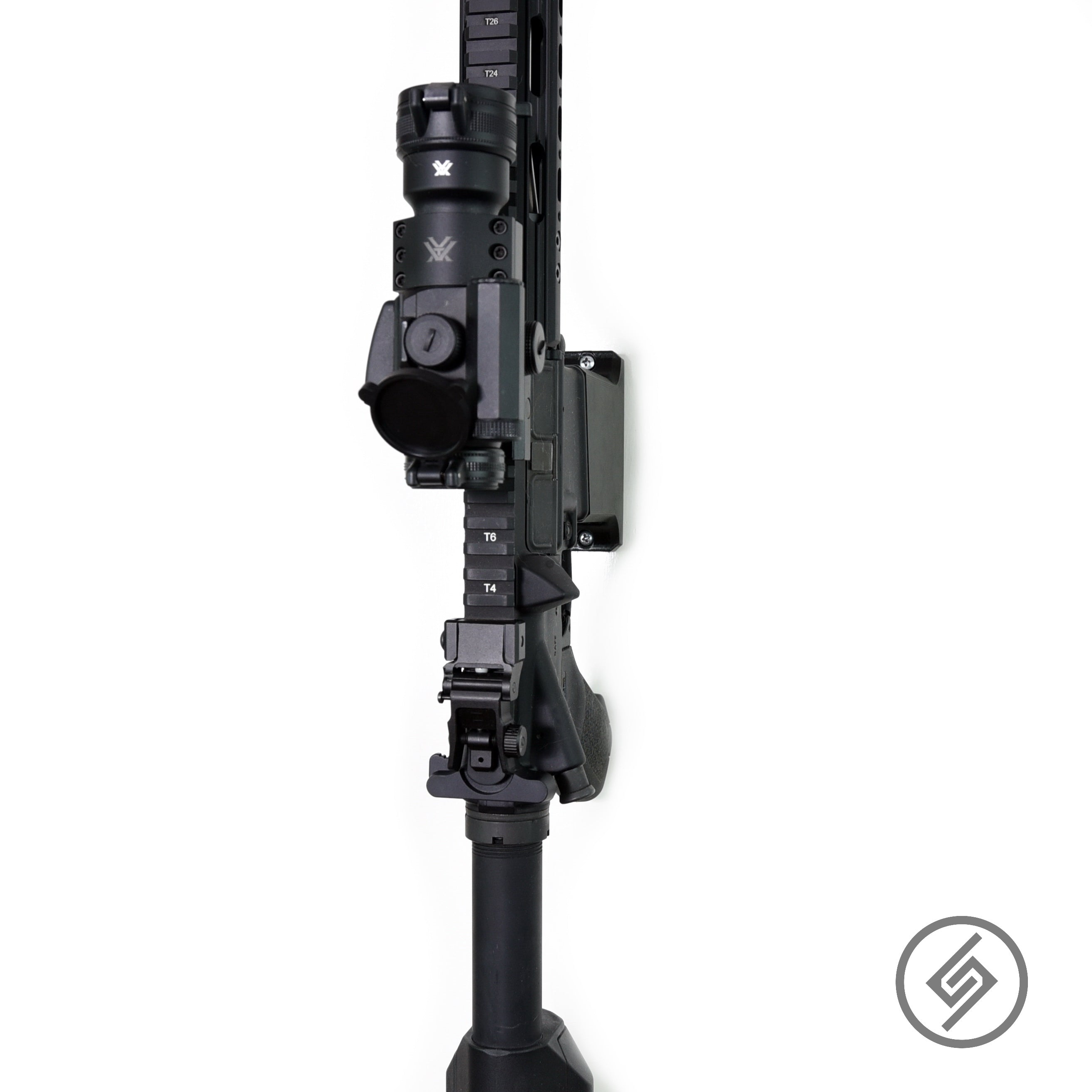 AR-15 Straight wall mount display hook adapter holder Spartan Mount