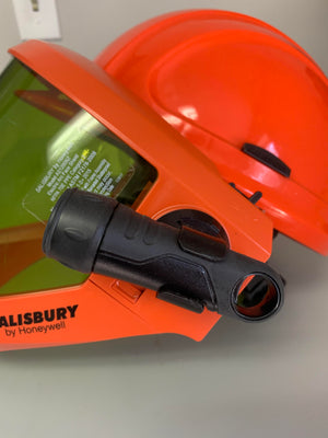 Flashlight and Mounting Bracket for Salisbury Face Shield