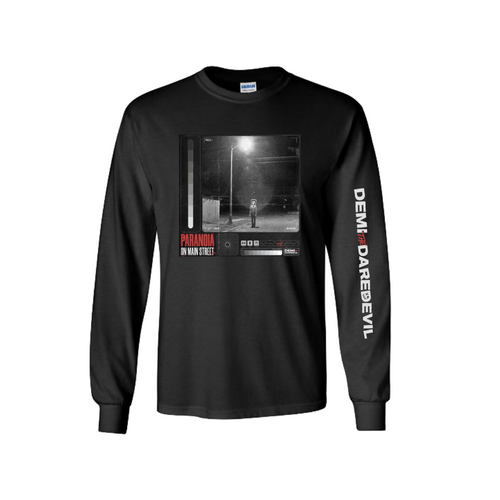 PARANOIA ON MAIN STREET LONG SLEEVE T-SHIRT Demi the Daredevil