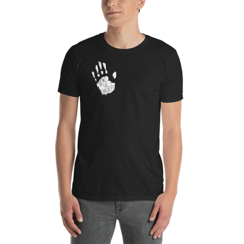 White and Black Handprint T-Shirt