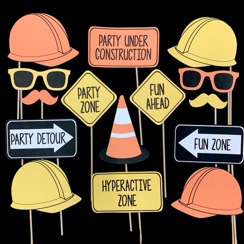 Construction Themed Photo Booth Props