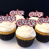 Grease Logo Cupcake Toppers