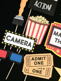 Movie Theater Themed Photo Booth Props
