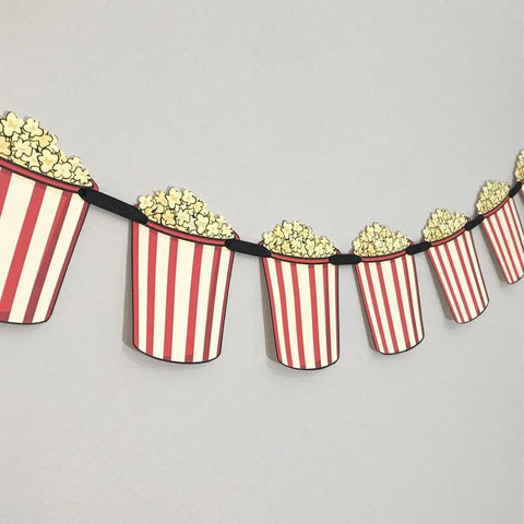Movie Theater Popcorn Banner