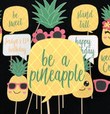 Pineapple Kawaii Themed Photo Booth Props