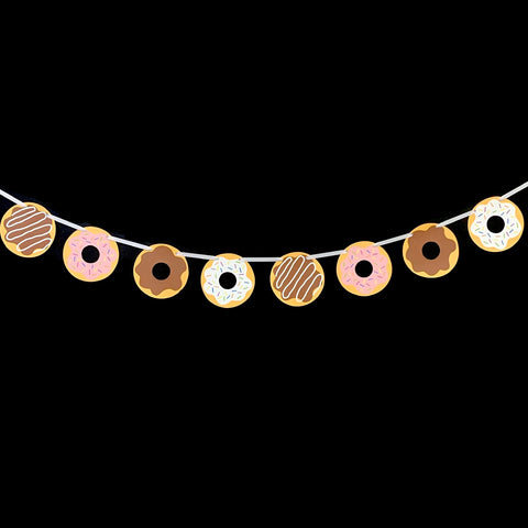 Donut Themed Party Banner