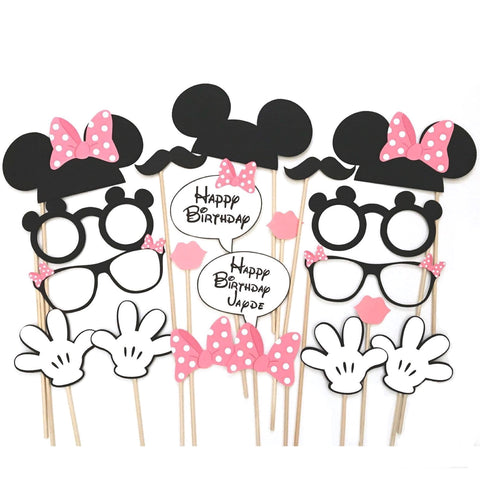Minnie Mouse Themed Photo Booth Props
