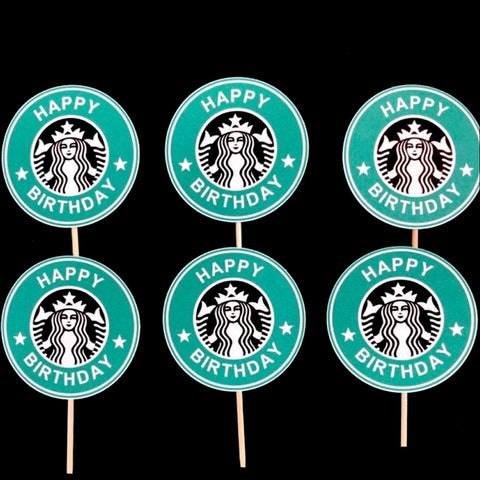 Starbucks Themed Cupcake Toppers