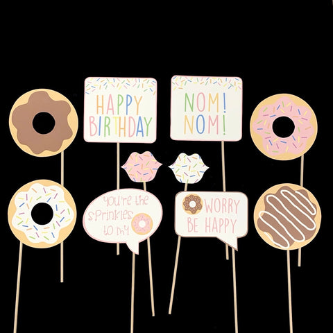 Donut Themed Photo Booth Props