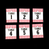 Carnival Themed Table Number Sign