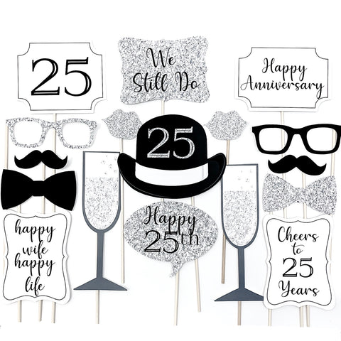25 Wedding Anniversary Photo Booth Props