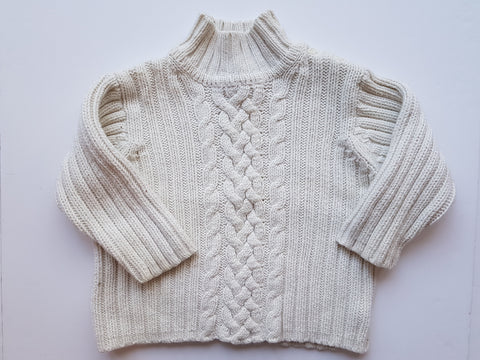Tan Cable-knit Sweater (2XL)