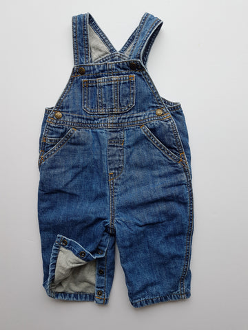 Jersey-lined Denim Overalls (6-9 Months)