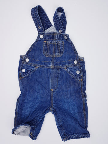 Lined Denim Overalls (6-12 Months)