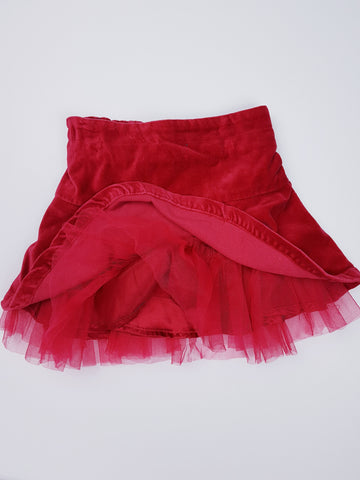 Red Velour Skirt (24 Months)