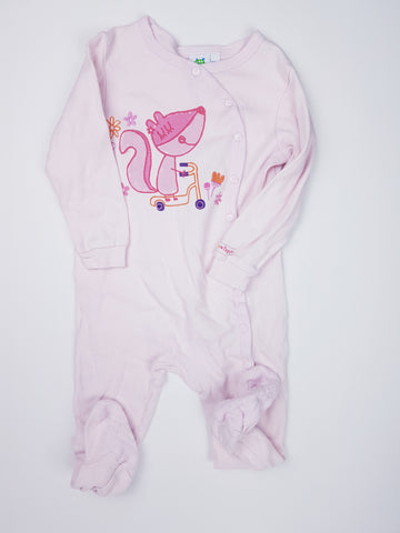 Gagou Tagou Pink Cotton Footed Pyjamas (24 Months) in EUC