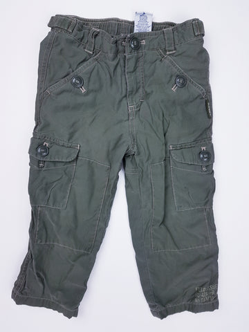 Jersey-Lined Khaki Cargo Pants (2T)