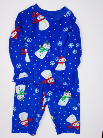 Fleece Snowman Jammies (2T/3T)