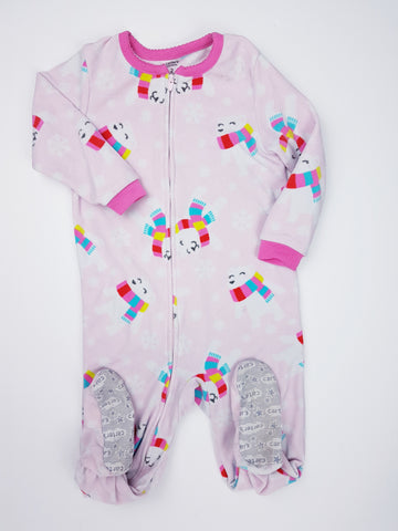 Fleece Polar Bear Footed Pyjamas (2T)