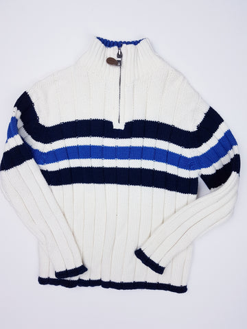 Striped Quarter-Zip Sweater (4T)
