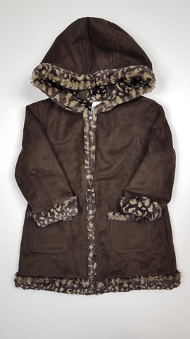 Soft Animal-Print-Lined Fall Jacket (3T)