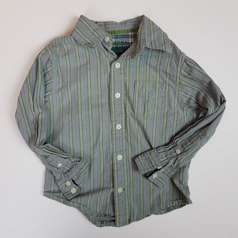 Striped Button-up Shirt (Size 5/6)