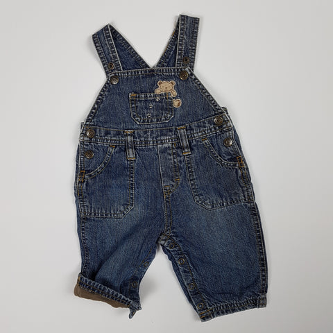 Teddy Bear Denim Overalls (3-6 Months)