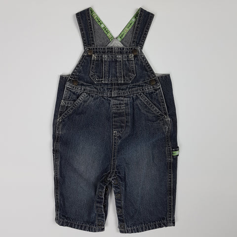 Lined Dark Wash Overalls (3-6 Months)