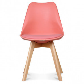 Chaise scandinave corail