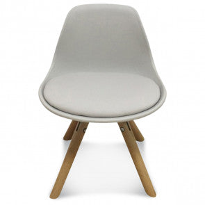 Chaise enfant mini scandinave taupe