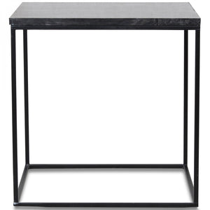 Table d'appoint en marbre noir square (40x40x39cm)