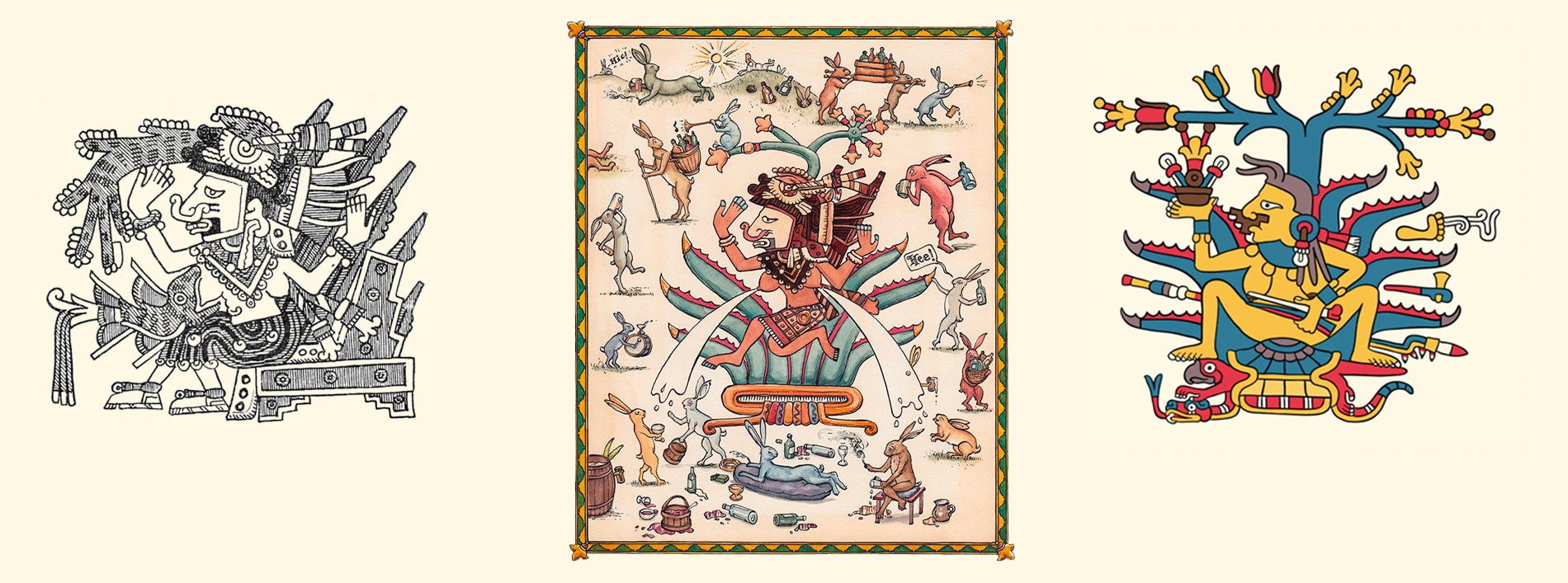 images from aztec codices