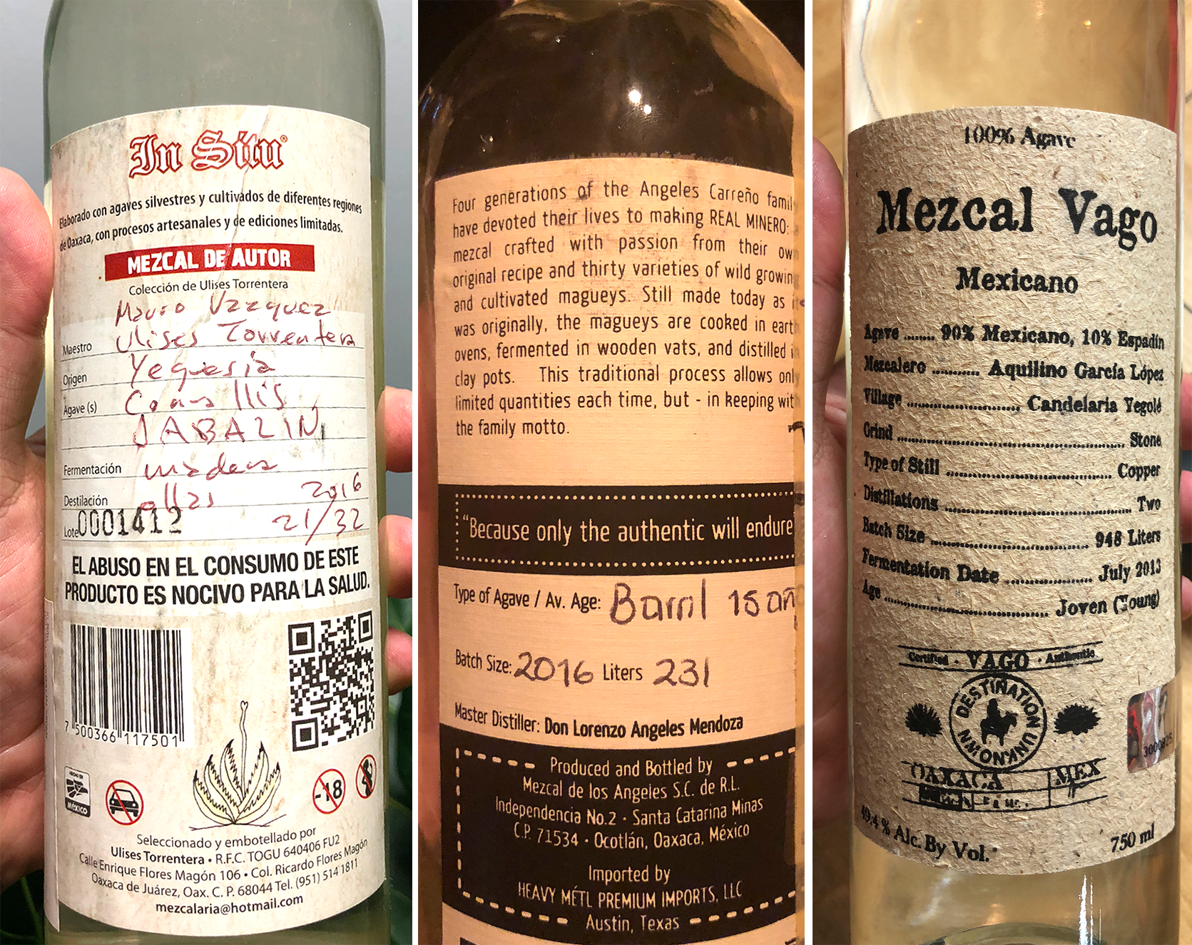 mezcal info labels