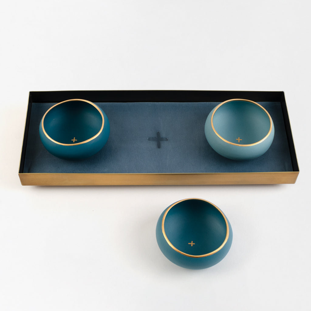 Mezcal Flight Tray + Porcelain Copita Set