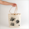 Agave tote bags black ink on natural canvas