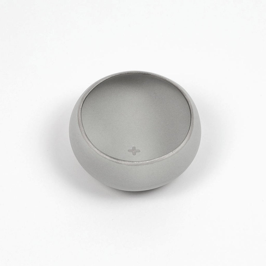 Light Grey and silver copita for drinking mezcal