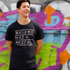 Quiero Mas Mezcal black organic cotton T-shirt size large