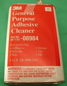 3M General Purpose Adhesive Cleaner. Specially blended solvent. Provides easy cleanup of most types of adhesives. (#3MAC)