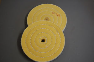 "6"" X 3/4"" YELLOW TREATED BUFF W/ARBOR HOLE"